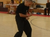 """exhibice naší školy - \""""deset forem\"""" (sap ying kyun) alias \""""pět zvířat a pět živlů\"""": Petr - \""""forma draka\"""" (lung ying), \""""vnitřní cvičení\"""" (noi gung) systému LGHK"""