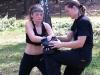 cvičení loktů a kolen na lapách -