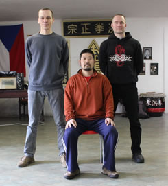 Chen Zhonghua shifu, Pavel Codl shifu (Chen Taiji Practical Method), Pavel Macek sifu (Practical Hung Kyun)